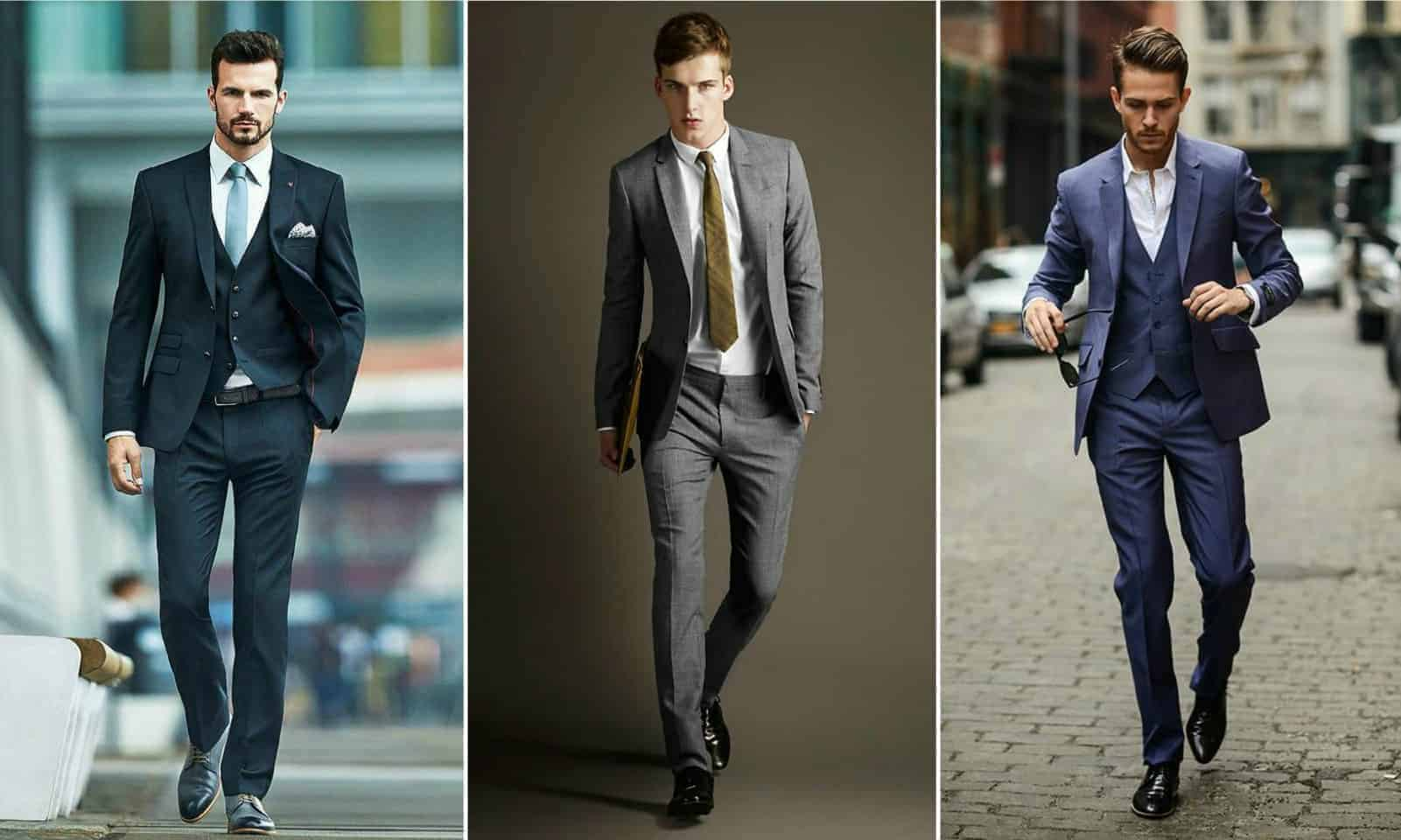 Men in slim fit suits