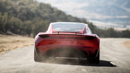 New Tesla Roadster Electric Sports Car, back