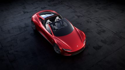 New Tesla Roadster Electric Sports Car, top