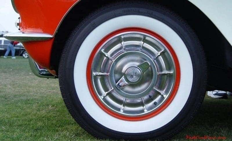 Tires on classic car