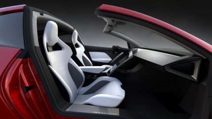 New Tesla Roadster Electric Sports Car, interior