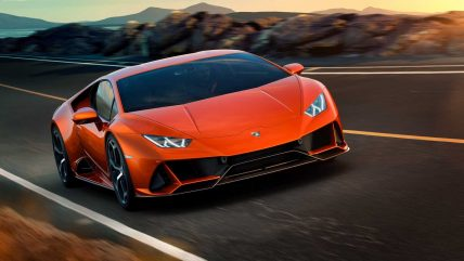 New Lamborghini Huracan Evo supercar, fast