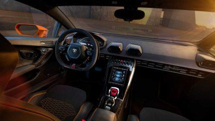New Lamborghini Huracan Evo supercar, interior