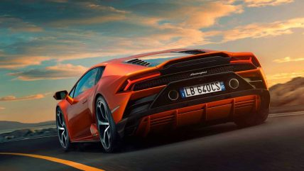 New Lamborghini Huracan Evo supercar, rear