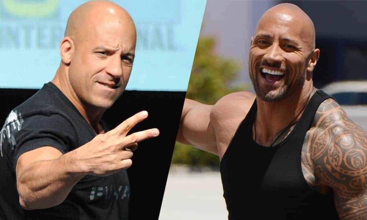 The Rock, Vin Diesel, no bald jokes