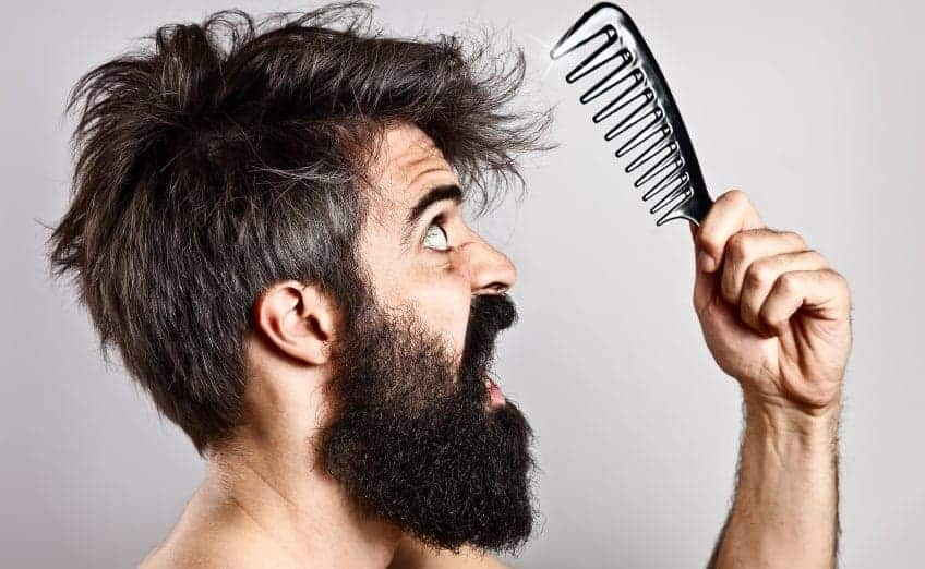 Bearded Man With Comb, Fearing Hair Loss