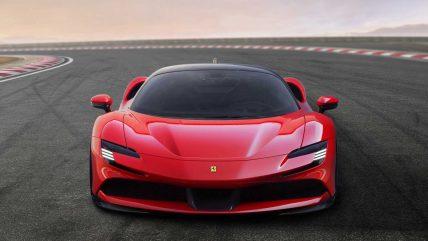 Ferrari SF90 Stradale hybrid supercar, front