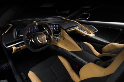 New, 2020 Chevy Corvette C8 Stingray, brown interior