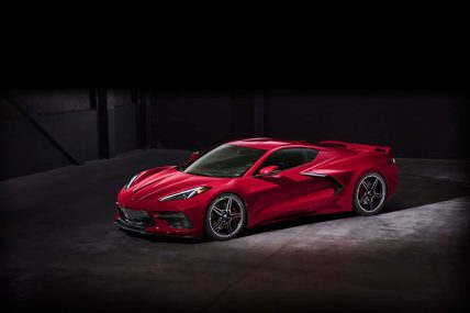 New, 2020 Chevy Corvette C8 Stingray, front side