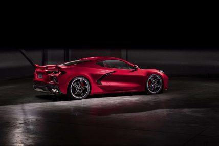 New, 2020 Chevy Corvette C8 Stingray, rear side