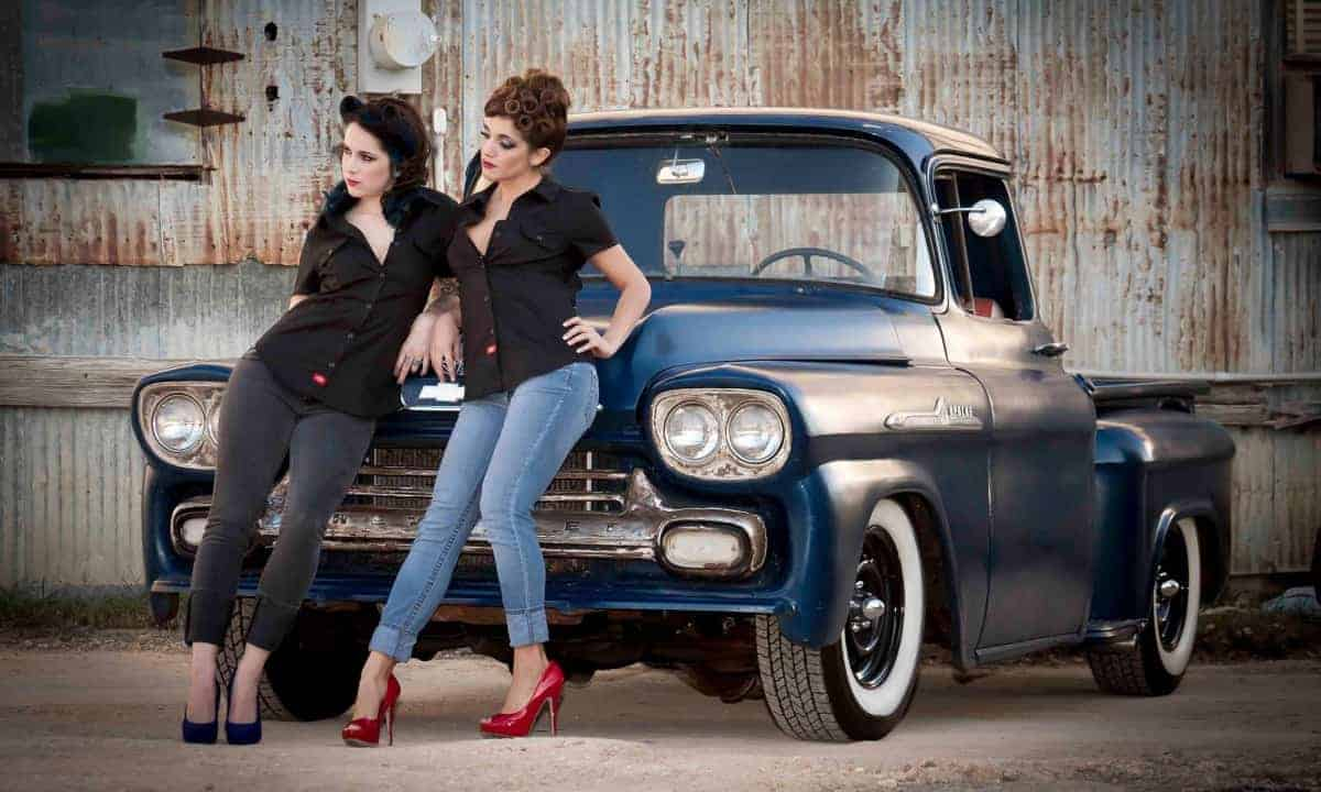 Old Chevy Truck, hot women