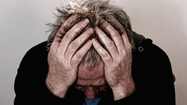 Sick Man Despair Headache