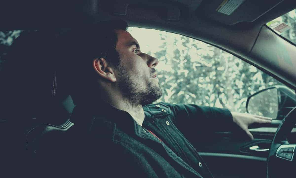 Relaxed Man in Car