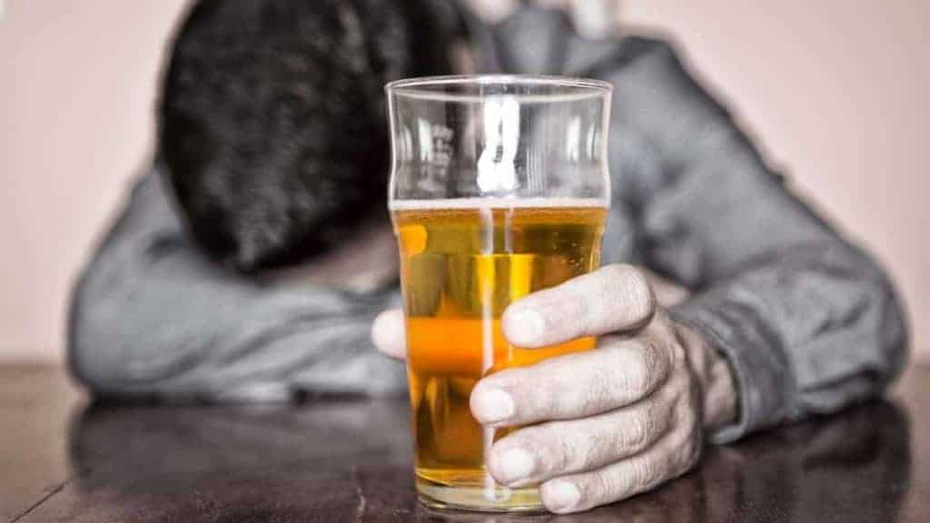 Drunk Man With Glass Of Beer