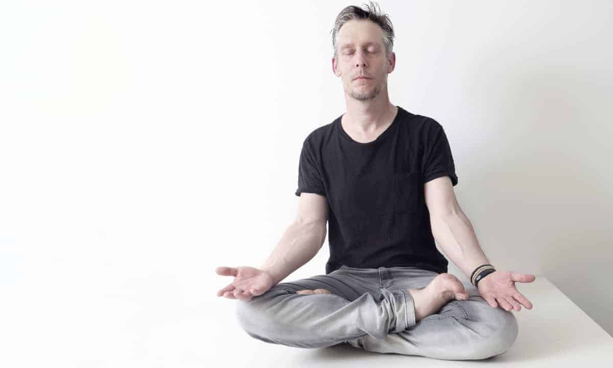 Man Meditating - controlling environment