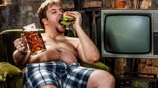 How to stop being lazy - lazy man eating