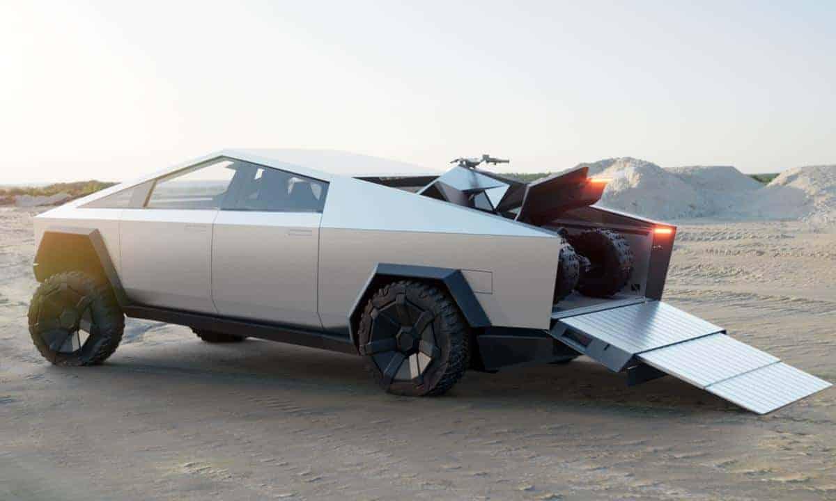 Tesla Cybertruck ATV Ramp Real Men