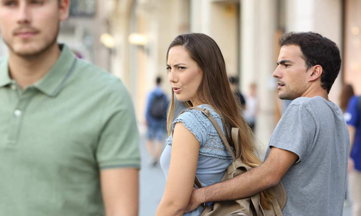 Woman Checking Out Guy