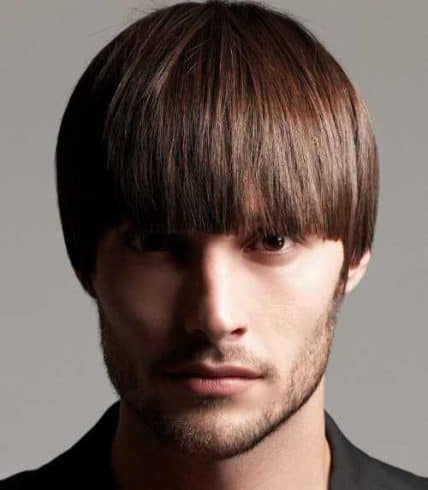 Short Hairstyles For Men - Handsome Man With Classic Bowl Cut