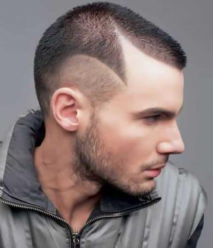 Short Hairstyle For Men - Buzz Cut with Shaved Design
