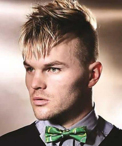 Short Hairstyles For Men - Messy Undercut with Bangs