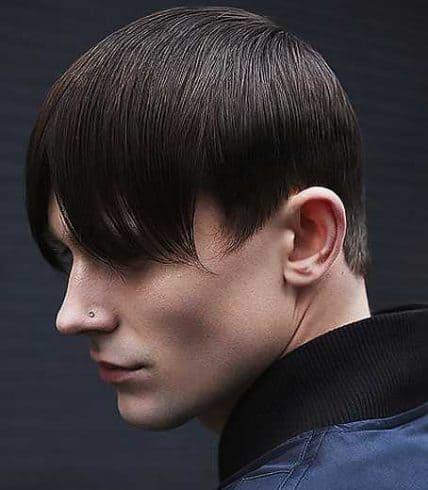 Short Hairstyles For Men - Short Haircut With Long Bangs