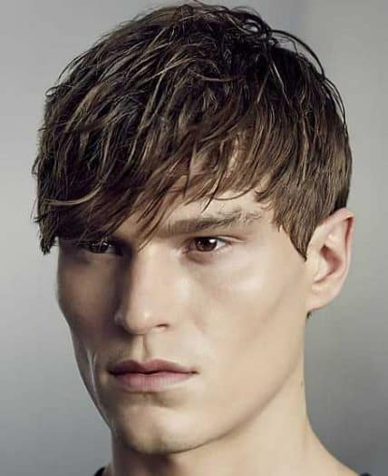 Short Men's Hairstyles - Short Style With Messy Bangs