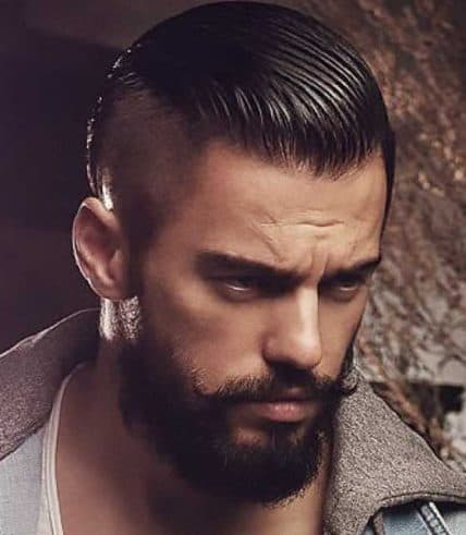 Short Haircuts For Men - Man With Slicked-Back Undercut
