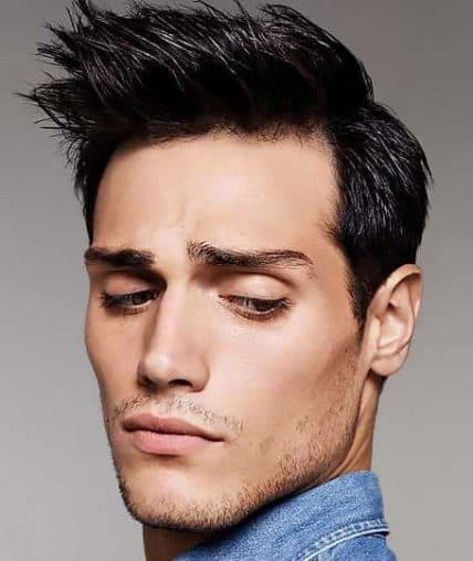Short Hairstyles For Men - Spiked Side Part Style