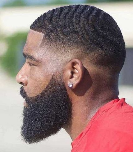 African Short Haircuts For Men - Waves With Fade