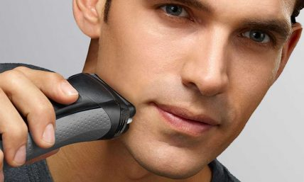 Man Shaving With Best electric shaver